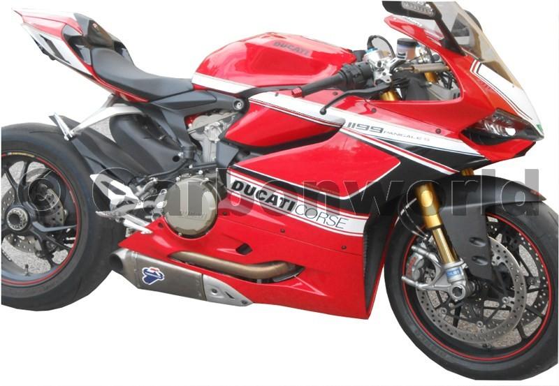 Aufkleber Kit Corse Schwarz Wei 223 F 252 R Ducati 899 1199 Panigale Ebay