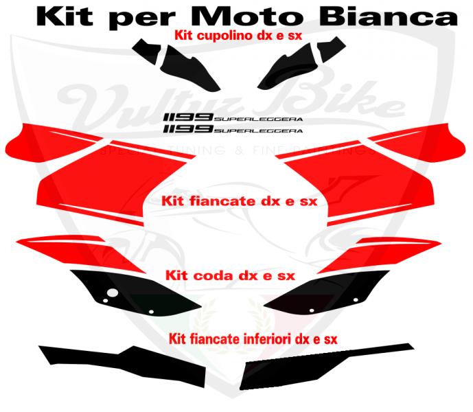 Aufkleber Kit Quot Superleggera Quot Schwarz Rot F 252 R Ducati 899 1199 Panigale Ebay