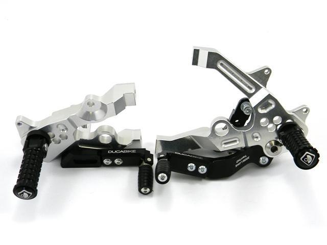 Fussrastenanlage Schwarz Silber Ducabike F 252 R Ducati Panigale