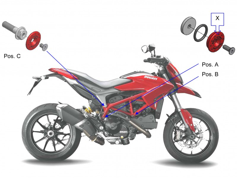 Tappi Telaio Kit Nero Cnc Racing Per Ducati Hypermotard 821 Ebay