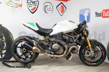 Blinkerkappen Carbon matt für Ducati Monster 821 1200 – Bild 8